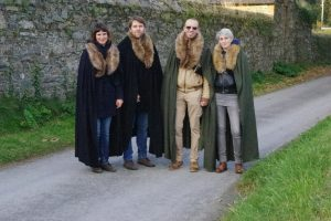 Visitors from Austria at Winterfell (AKA Castleward Strangford)